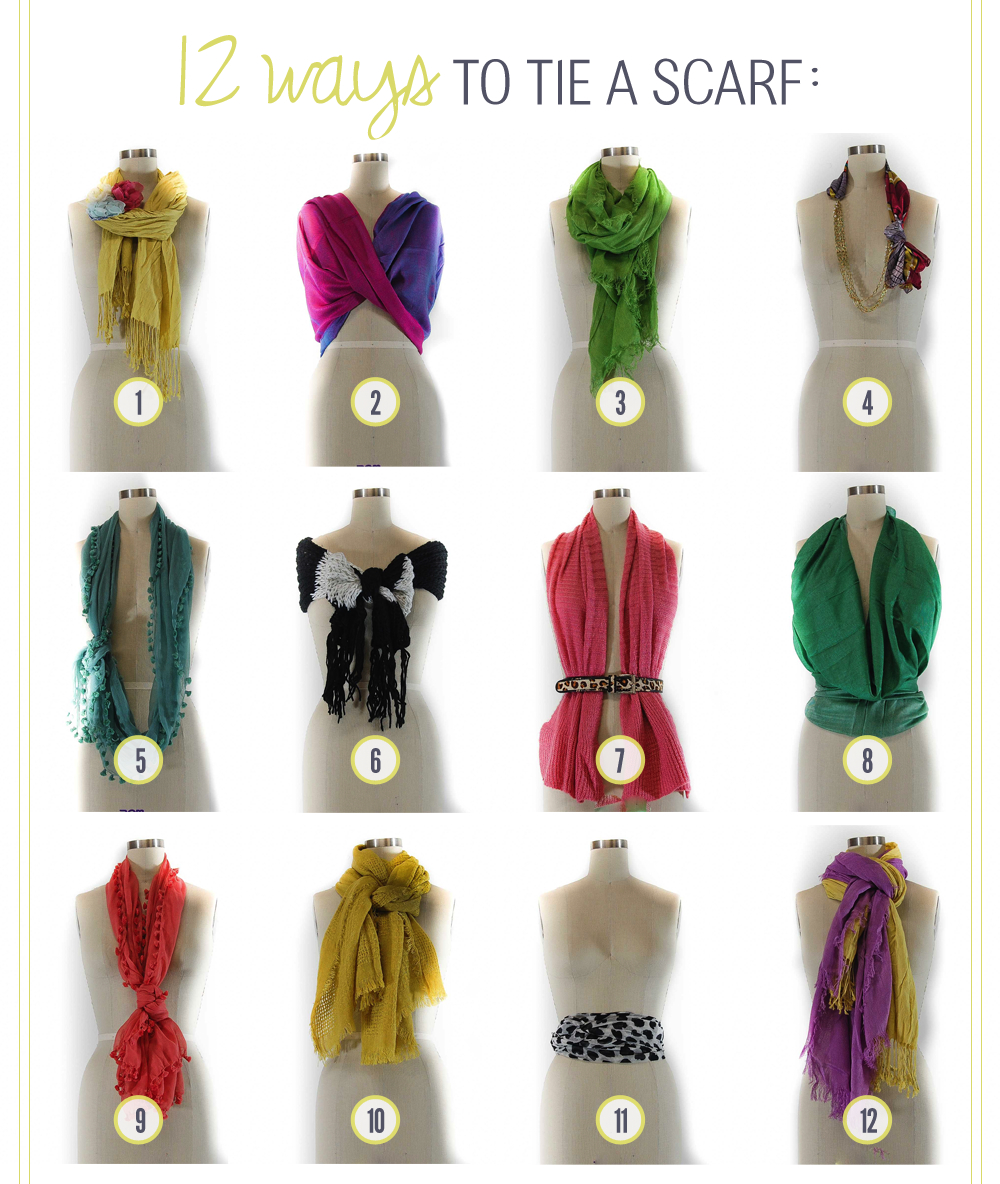 12 ways to tie a scarf the club