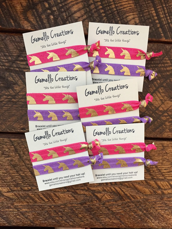 15% OFF Custom Hair Ties with Custom Message from Gemello Creations