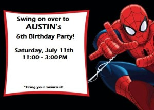 Austin Birthday Invite