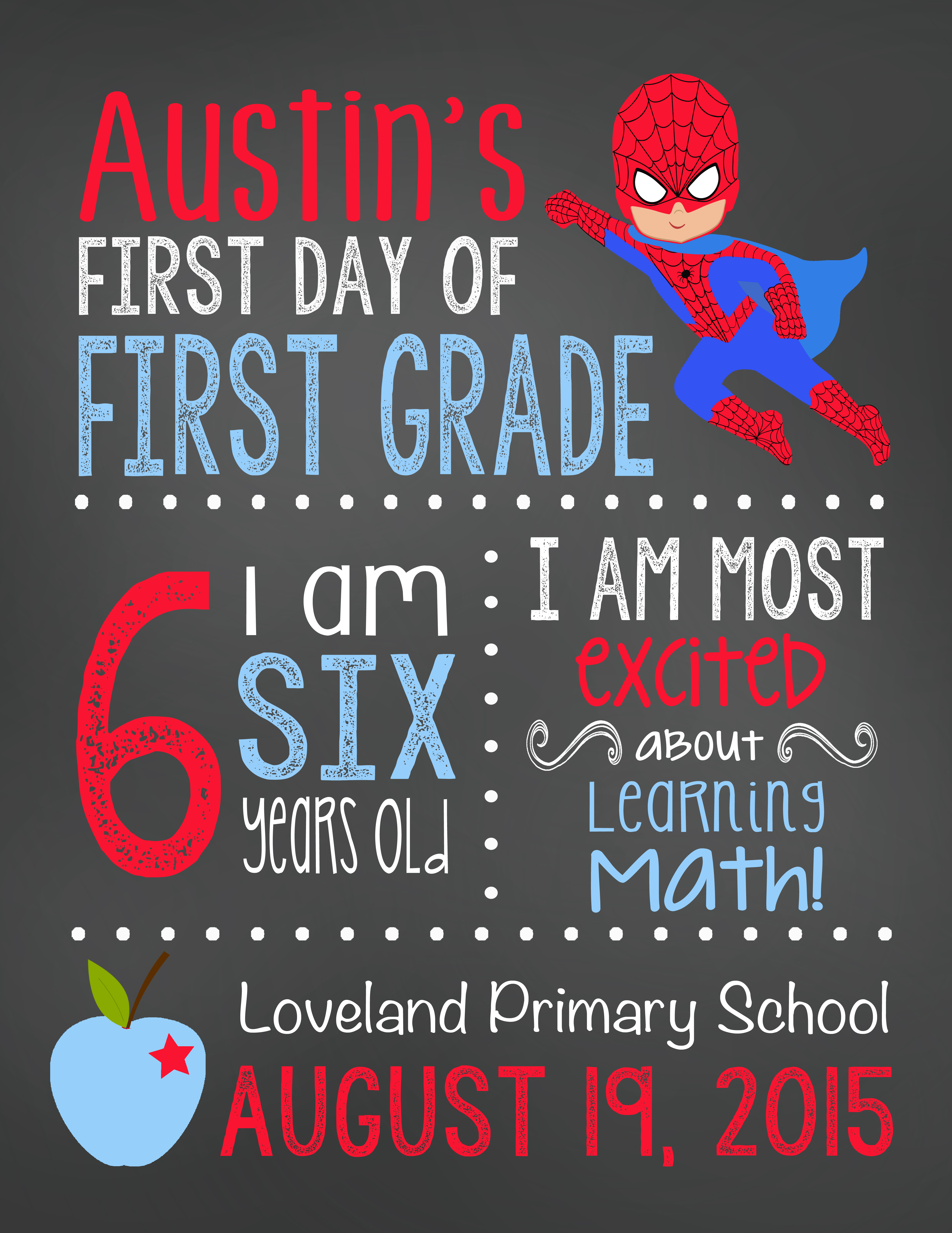 10 off first day of school signs at lovebabble the for First day of school sign template