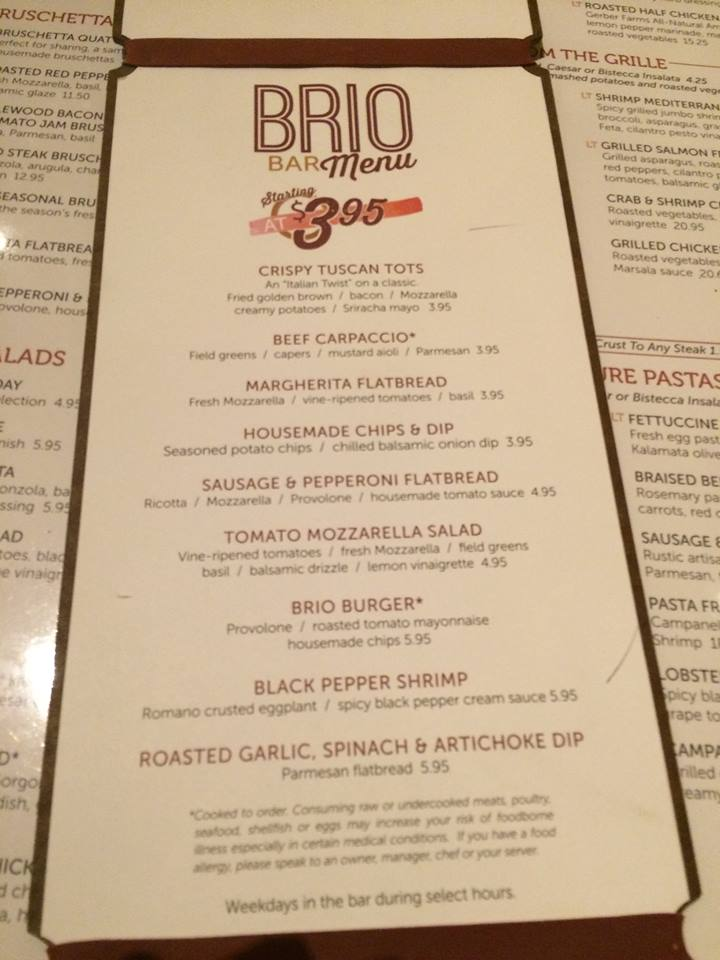 Brio tuscan grille opens first ohio site in 8 years at for Fresh fish company happy hour